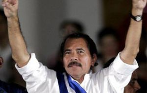 The Nicaraguan president was inaugurated for a second consecutive mandate