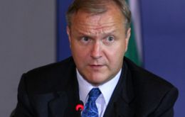 "Olli Rehn says ""the Euro zone has taken decisive action in all fronts"""