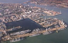 Portsmouth has been an English naval base since the 1200s
