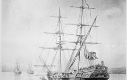 USS Lexington had already removed the majority of the population of Port Louis in 1833