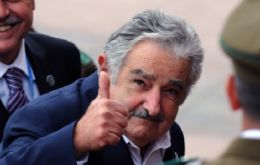 Uruguayan president Jose Mujica who happened to be at the base was given a gift of a crate of Protector's own brand of beer, 'Ice-Breaker'