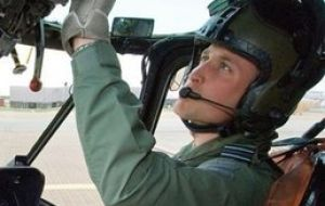 The heir of the British throne will be deployed at MPA as a search and rescue helicopter pilot