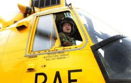 William will be crewing one of two search-and-rescue helicopters on call 24 hours a day at MPA