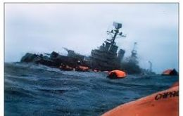 The Belgrano went down 2 May 1982 torpedoed by HMS Conqueror with the loss of 323 sailors