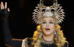 Madonna's half-time entertainment at the Super-Bowl