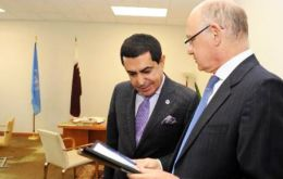 UN General Assembly president Al-Nasser with Minister Timerman