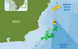 The Brazil Campos basin could extend to the Kwanza basin of Angola