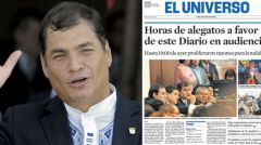 Pte. Correa and El Universo is Quito's most renowned newspaper