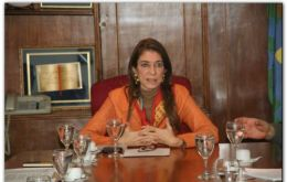 "Industry minister Debora Giorgi, trade with countries that respect ""territorial sovereignty"""