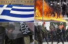 Greeks took to the streets to protest
