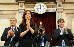 The Argentine president address was over three-hour non-stop