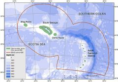 Maps showing the extent of the new MPA around South Georgia and the South Sandwich Islands