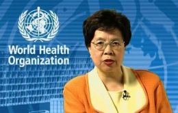 "Margaret Chan urged the world to ""stand shoulder to shoulder"" against the tobacco industry"