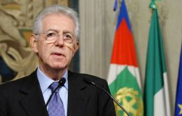 PM Monti: not much needed to reignite Euro zone debt crisis