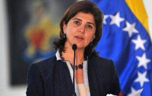 Colombian Foreign minister Maria Angela Holguin made the announcement