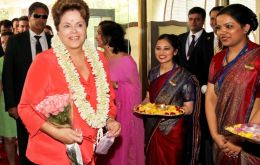Double good news for President Rousseff in New Delhi