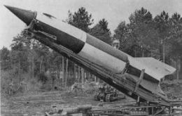 The rocket was introduced by the Germans in 1944 and was 14m long