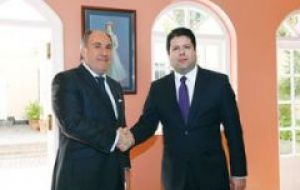 Chief minister Picardo with mayor Landaluce address fishing activities