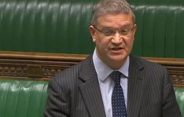 Conservative MP Rosindell and general secretary of the Falklands' All-party parliamentary group