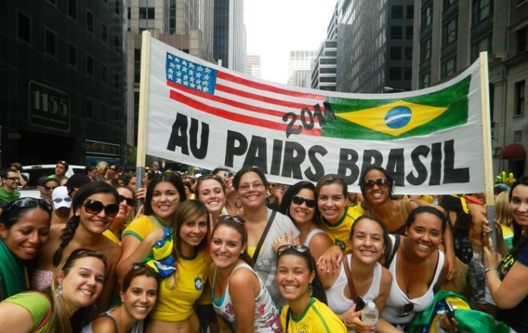 Over 1.5 million Brazilians travelled to the US last year