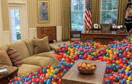 The Oval Office turned into a ball pit for children on Easter Egg Roll celebration