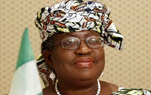 Nigerian Finance Minister Ngozi Okonjo-Iweala has the support of many emerging markets