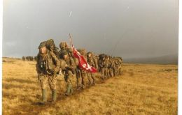 Brigadier Gardiner gives a graphic account of the 'yomp' across the Falklands to reach Port Stanley