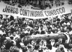 At Jango's burial in Sao Borja thousands took to the streets