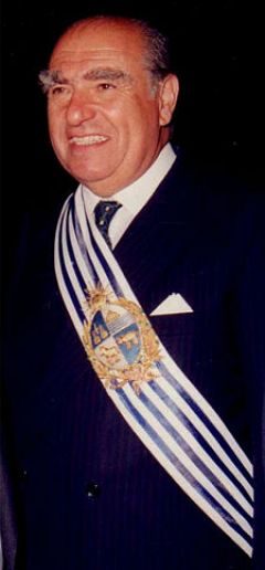 Twice democratically elected president, Julio Maria Sanguinetti 1985/1990 and 1995/2000