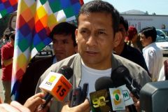 President Humala makes the announcement that is resisted by indigenous communities