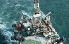 The 'Ocean Guardian' oil rig which spent almost two years drilling in Falklands' waters