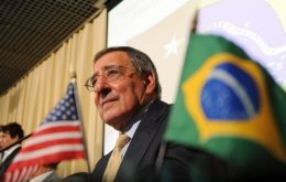Panetta desperately fighting for the lucrative contract involving 36 aircraft  (Photo: AFP)