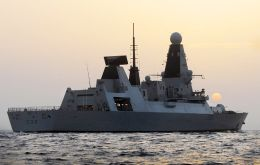 The Type 45 warship taking part in the 'Auriga 12' deployment was praised by fellow seamen (Photo: MoD)