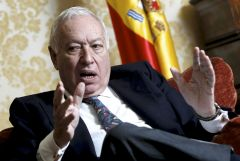 Foreign minister Garcia Margallo has considerably toned down his comments