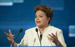 "President Rousseff has warned about a ""currencies war"" and a ""monetary tsunami"" from rich countries"