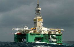 Oil rig Leiv Eiriksson currently drilling in the Stebbing prospect