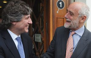 Vice President Boudou met with Red Cross chief Kellenberg in Geneva (Photo: TELAM)
