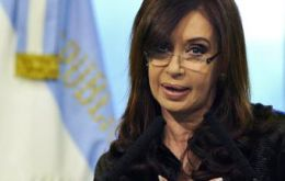 """Apparently there are people who are determined to speak badly of Argentina"" remarked CFK"