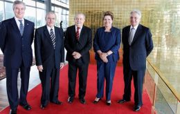 All Brazilian living presidents were present at the solemn ceremony