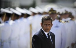 Humala replaced his Defence and Interior ministers after a serious setback in fighting Shinning Path (Photo AFP)