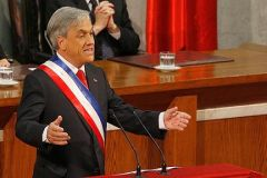 The Chilean president in his annual state of the country speech to Congress