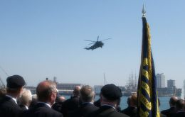 The Sea King fly-past at Portsmouth
