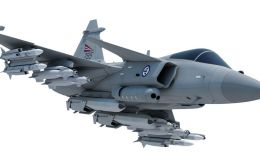 The Gripen fighter jet flown by six countries and which Saab wants to add Brazil
