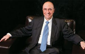 Meirelles headed the bank from 2003 to 2010, a period of unprecedented growth in Brazil