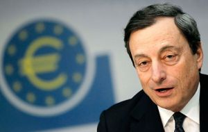 Draghi extended short term liquidity loans to banks until next January 15