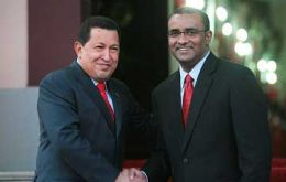 Chavez and Guyanese President Bharrat Jagdeo have a good relation