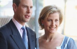 Prince Edward and Sophie arrive next Monday for a three day visit