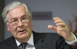 Sir Mervyn has said the Euro zone's woes is the biggest threat to UK economic recovery