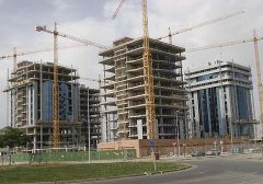 Construction suffered the second most important contraction in April