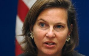 Ms Nuland said she would return an answer on the (hypothetical) result of the referendum